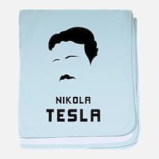 Nikola Tesla Silhouette baby blanket