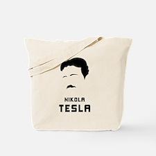 Nikola Tesla Silhouette Tote Bag