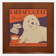 Labradoodle Strudel Framed Tile