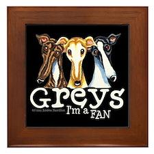 Greys Fan Funny Framed Tile