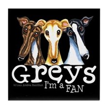 Greys Fan Funny Tile Coaster