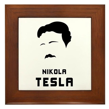 Nikola Tesla Silhouette Framed Tile