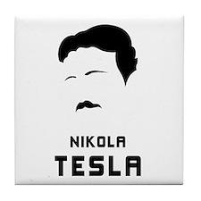 Nikola Tesla Silhouette Tile Coaster