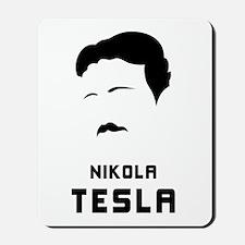 Nikola Tesla Silhouette Mousepad