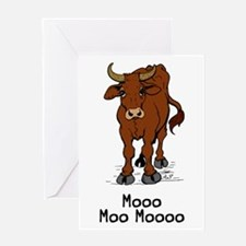 Moo Cow Greeting Card
