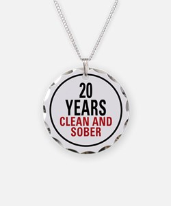 20 Years Clean & Sober Necklace