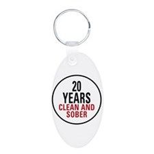 20 Years Clean & Sober Keychains