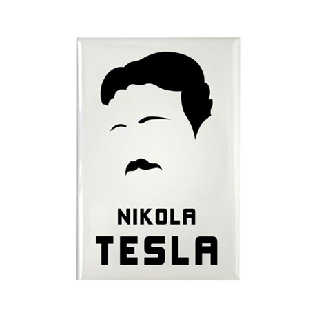 Nikola Tesla Silhouette Rectangle Magnet