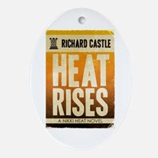 Castle Heat Rises Retro Ornament (Oval)