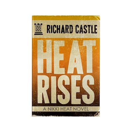 Castle Heat Rises Retro Rectangle Magnet