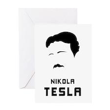 Nikola Tesla Silhouette Greeting Card