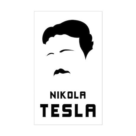 Nikola Tesla Silhouette Sticker (Rectangle)