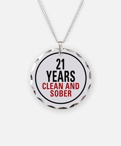 21 Years Clean and Sober Necklace