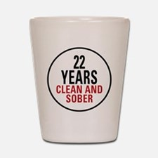 22 Years Clean and Sober Shot Glass