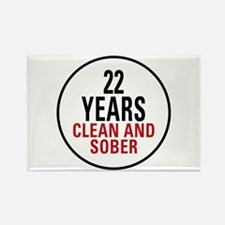 22 Years Clean and Sober Rectangle Magnet