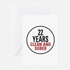 22 Years Clean and Sober Greeting Cards (Pk of 10)