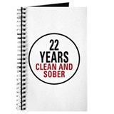 22 years sober Journals & Spiral Notebooks