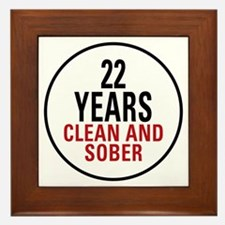 22 Years Clean and Sober Framed Tile