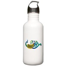 Abstract Peacock Stainless Water Bottle 1.0L