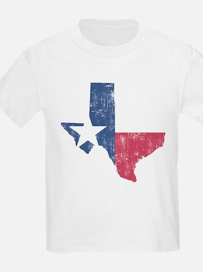 Vintage Texas State Outline Flag T-Shirt