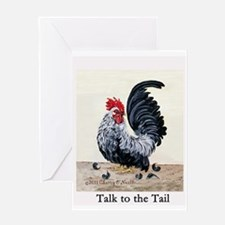 Chicken - Talk to the Tail Greeting Card