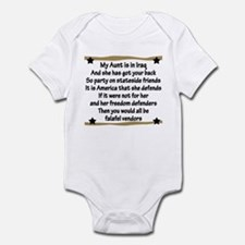 My Aunt Has Got Your Back Infant Bodysuit