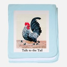 Chicken - Talk to the Tail baby blanket