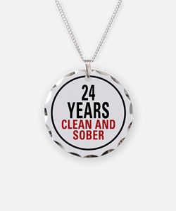 24 Years Clean and Sober Necklace