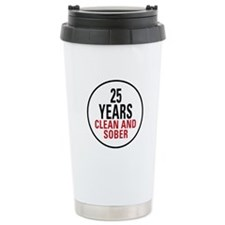 25 Years Clean and Sober Travel Mug