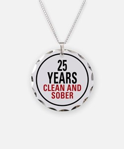 25 Years Clean and Sober Necklace