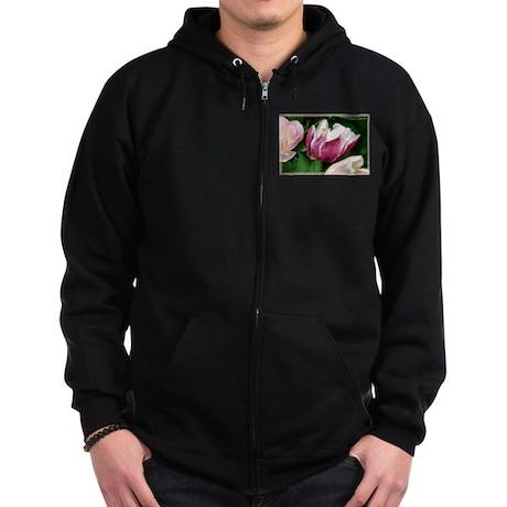 Tulips, colorful, photo Zip Hoodie (dark)