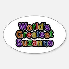 World's Greatest Suzanne Oval Decal