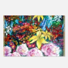 Flowers, Colorful, art, Postcards (Package of 8)