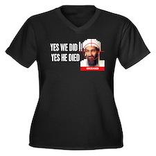 Osama Bin Laden - Yes we did Women's Plus Size V-N