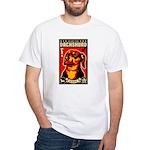 Fear the Dachshund Propaganda White T-shirt