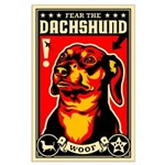 Fear the DACHSHUND Large Poster