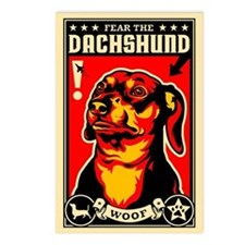 Fear the DACHSHUND Postcards (Pack of 8)