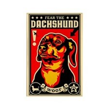 Fear the DACHSHUND Propaganda Magnet