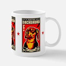 WOOF Fear the DACHSHUND Propaganda Mug
