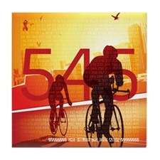 545 Miles To End Aids - Tile Coaster