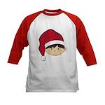 Cute Christmas Elf Kids Baseball Jersey