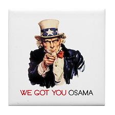 Cute Osama's dead Tile Coaster