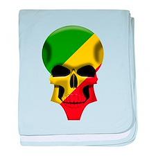 Congo Skull baby blanket