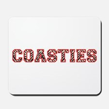 Coasties Zebra Red Mousepad