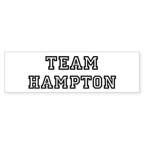 Team Hampton Bumper Sticker