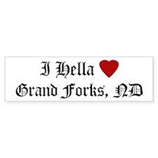 Hella Love Grand Forks Bumper Bumper Sticker