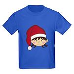 Cute Christmas Elf Kids Dark T-Shirt