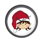 Cute Christmas Elf Wall Clock