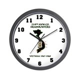 219th headhunters Wall Clocks