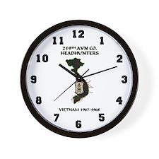 219th AVN HEADHUNTERS 67-68 Wall Clock